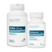 DHEA 25mg 180 Capsules + MELATONIN 1mg 180 Capsules VALUE PACK