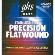 GHS Strings M3050 4-String Precision Flatwound Stainless Steel Flat Wound Bass Strings Long Scale Plus (.045-.105)