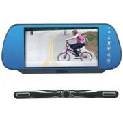 """Pyle PLCM7800 Monitor de 7"""" para coche (17,8 cm, con cámara de retroceso), color azul (importado)"""