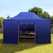 Profizelt24 Faltpavillon 3x4,5m dunkelblau Klappzelt, Partyzelt, Gartenzelt, Faltzelt