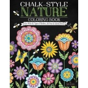 Chalk-Style Nature Coloring Book by Deb Strain