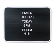 """Quartet Products Quartet Character Sets, Pin, White, 1""""H, 128/Set Sold As 1 Set Create Easy To Read Messages Using Reliable Raised White Lettering. Secure Letters Evenly And Straightly With Molded Grooves On The Back Of Each Letter."""