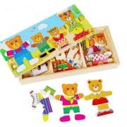 Puzzle imbraca ursuletii familia de ursuleti