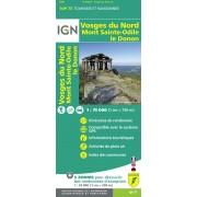 Fietskaart - Wandelkaart 27 Top75 Vosges du Nord - Mont Sainte Odile - Le Donon | IGN