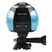 Mini 4K 2448 x 2448 Ultra HD Camara de accion de panorama - Azul + Negro