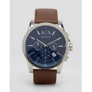 Armani Часы с кожаным ремешком Armani Exchange AX2501 - Коричневый
