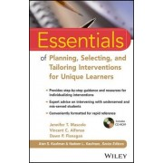 Essentials of Planning, Selecting, and Tailoring Interventions for Unique Learners by Jennifer T. Mascolo