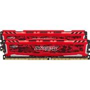 Ballistix Sport LT Kit Memoria da 16 GB (8 GBx2), DDR4, 2400 MT/s (PC4-19200), DIMM 288-Pin, Rosso - BLS2C8G4D240FSE