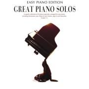 """Music Sales Ldt - Spartito """"Great Piano Solos"""" con 30 arrangiamenti per piano di alcuni tra i migliori brani di musica classica e pop, colonne sonore di musical e film di sempre, tra cui """"Il favoloso mondo di Amelie"""" e """"Hung Up"""" di Madonna"""