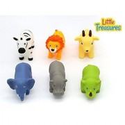 Bathtime Fun Bath Toys for babies of age 18+ months includes 6 different water-squirting floating animal friends great way for kids to spend time in the tub