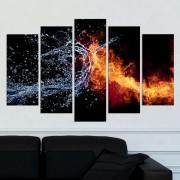 Декоративен панел за стена с Фън Шуй елементи - огън и вода Vivid Home
