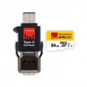 Strontium 64GB NITRO MICROSD WITH TYPEC CARD READER