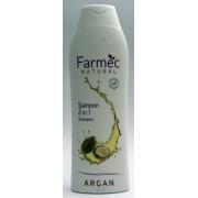 Farmec Natural Sampon 2 in 1 cu argan (400 ml)