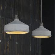 LUMZ Lamp met twee betonnen kappen