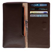 Chalk Factory Brown Leather Case / Pouch/ Cover with card slots for OnePlus 3 (Graphite, 64GB) Mobile Phone