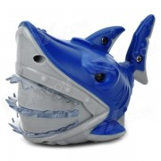 Fun Electric 3-CH RC Shark Toy w/ LED Light - Blue + Grey
