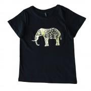 Tricou negru cu imprimeu elefant pentru copii