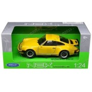 New 1:24 W/B Welly Collection Yellow 1974 Porsche 911 Turbo 3.0 Diecast Model Car By Welly