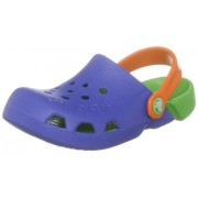 Crocs Hale - Zuecos de Goma, Niños, Azul (Sea blue/Lime), 20