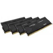 HyperX Predator HX426C13PBK4/32, 32GB, Kit (4x8GB), 2666MHz, DDR4, Non-ECC CL13 DIMM XMP, Compatibili con Skylake