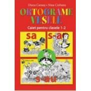 Ortograme vesele caiet pentru cls 1-2 - Diana Caraus Nina Ciobanu