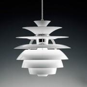 Lámpara Moderna Colgante Aluminio Totalmente Blanca