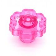 Lego Building Accessories Transparent Purple Flower, Bulk - 25 Pieces per Package