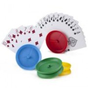 Set of 4 Circle-shaped Hands-free Playing Card Holders