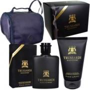 Trussardi Black Extreme Комплект (EDT 50ml + SG 100ml + Bag) за Мъже