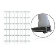 Kit 10 Hastes para Cerca Elétrica Estrela Aluminio 6 Isoladores Brancos 1 Metro