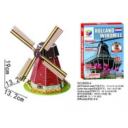 Holland Windmil 3D Paper Puzzle, 20 Pieces