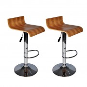 Two Contemporary Wooden Bar Stools