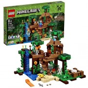 Lego Year 2016 Minecraft Series Set #21125 - THE JUNGLE TREE HOUSE with Creeper