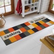 wash+dryキッチンマット kitchen orange キッチンオレンジ60X180