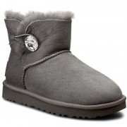 Pantofi UGG AUSTRALIA - W Mini Bailey Button Bling 1016554 W/Grey