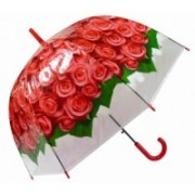 Deštník dámský vystřelovací holový růže červený 9160-9 9160-9