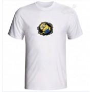 Camiseta Adulto Branca 100% Algodão Malha 30.1