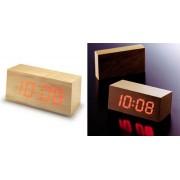 Wooden Led Clock - Orologio Digitale che compare nel Legno