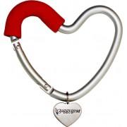 Heart Shaped Stroller Hook Red BuggyGear