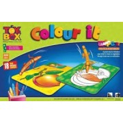 TanMan Colour it, The Game Of Colouring Including 18 Re-Usable Cards ( FRUITS )