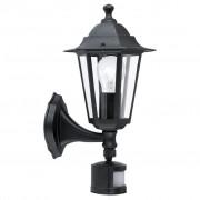 EGLO Muurlamp voor buiten met sensor Laterna 4 60 W zwart 22469