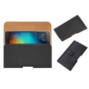 Acm Belt Holster Leather Case For Xiaomi Mi 4I Mi4I Mobile Cover Holder Clip Magnetic Closure Black