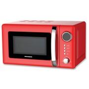 Cuptor cu microunde Heinner HMW-20GRD, 20 litri, 700 W, grill, 5 trepte de putere, control electronic, rosu