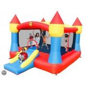 Happy Hop Super Castle Bouncer with Slide - Springkussen