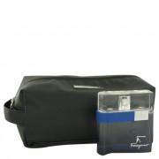 Salvatore Ferragamo F Free Time Eau De Toilette Spray 3.4 oz / 100.55 mL + Toiletry Bag Gift Set Fragrance 501032