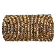 BangleEmporium Gold Bangles Barati Collection! 48 Piece Sparkling Bangle Bracelets Size Small 2.6