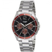 Casio Quartz Black Round Men Watch MTP-1374D-5AVDF(A951)