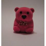 Sametova krabicka na sperky - maly ruzovy medvidek