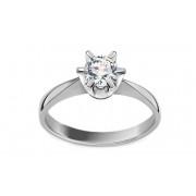 Diamantový zásnubní prsten 0,520 ct I / Si1 Nela white EGL CSBR51A