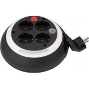 Box de câble Confort-Line CL-S 4 prises noir/blanc 3m H05VV-F 3G1,5